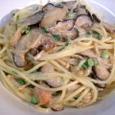 タラコとキノコのスパゲティ